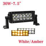 7.5 inch 36W Bicolor LED  light bar for truck,White or Amber