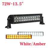 13.5 inch 72W Bicolor LED light bar for truck,White or Amber