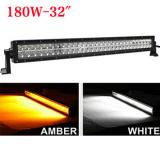 31.5 inch 180W Bicolor LED light bar for truck,White or Amber