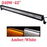 41.5 inch 240W Bicolor LED light bar for truck,White and Amber