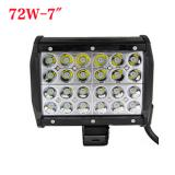 7 inch 72W Cree Four Row LED light bar for Jeep Off Road