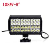9 inch 108W Cree Four Row LED light bar for Jeep Off Road
