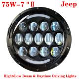 75W JEEP Wrangler Headlight,7inch 75W CREE LED Headlight